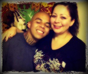 Joel Acevedo and his mother Donna