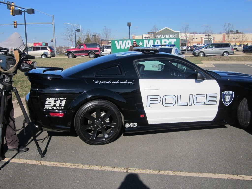 """A """"Barricade"""" model Ford Mustang from the movie Transformers"""