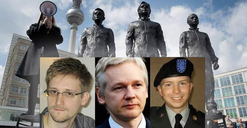Image result for snowden assange manning statue