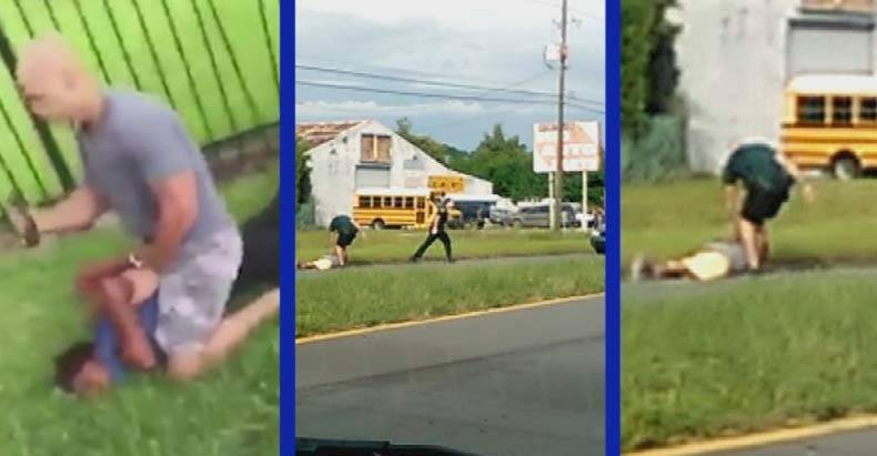 While-On-Desk-Duty-for-Kicking-a-Cuffed-Man-in-the-Face,-Cop-Manages-to-Beat-an-Innocent-Teen