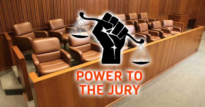 jury nullification If you're a juror - would you unthinkingly obey a person wearing a black dress who told you that you're.