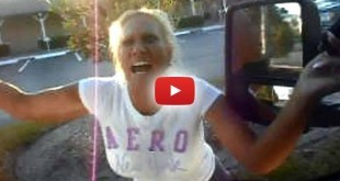 Enraged-Cop-Flips-Out-When-Her-Car-is-Towed-for-Illegal-Parking----Pulls-Gun-on-Tow-Truck-Driver