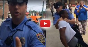 cop slams handcuffed man