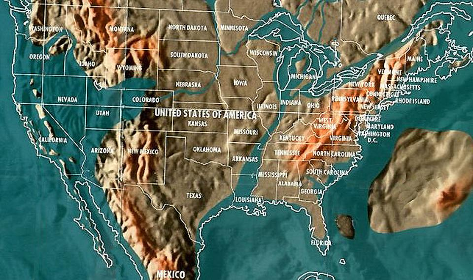 NASAVerified Doomsday Map Reveals Why The Govt Super Rich Are - Future map of the us