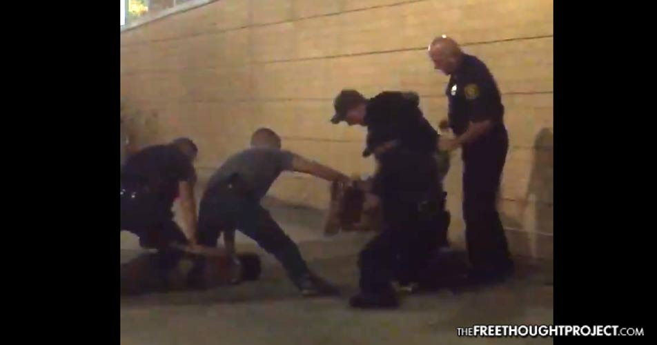 'Use Your F**king Taser Bobby!' Cops Snap, Smash Man's Head Into Concrete Over and Over