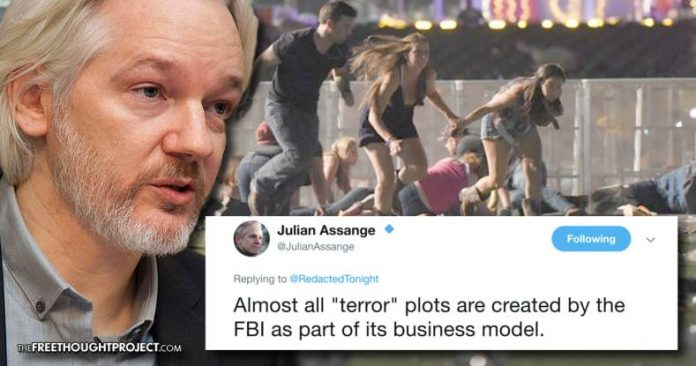Assange Warns About Vegas Shooting: 'Almost All Terror Plots are Created by the FBI' 22414431_439814476415255_1949278770_n-696x366
