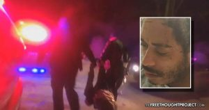 WATCH: Cop Turns Body Cam Away as Fellow Cop Starts Beating Handcuffed Man's Face