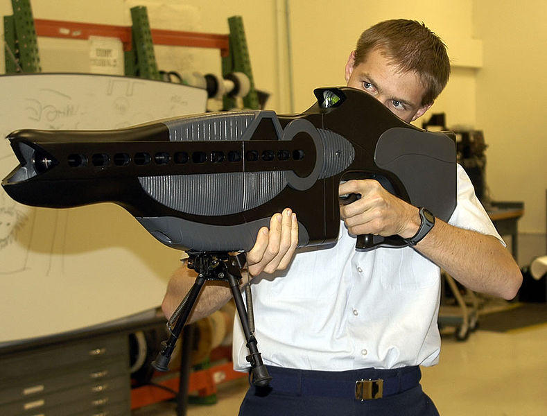 PHaSR, a United States dazzler style weapon, intended to temporarily blind or disorient its target.