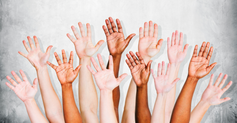 hands up we're all different