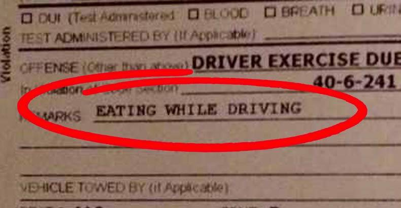 ticketed-for-eating-while-driving