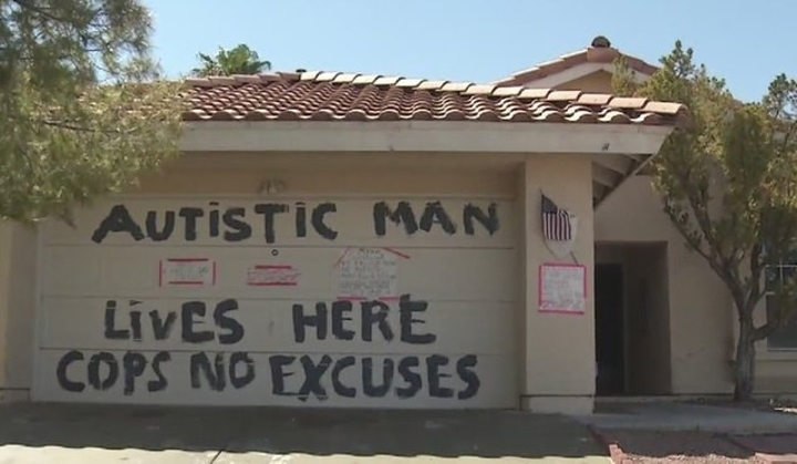 autistic man lives here