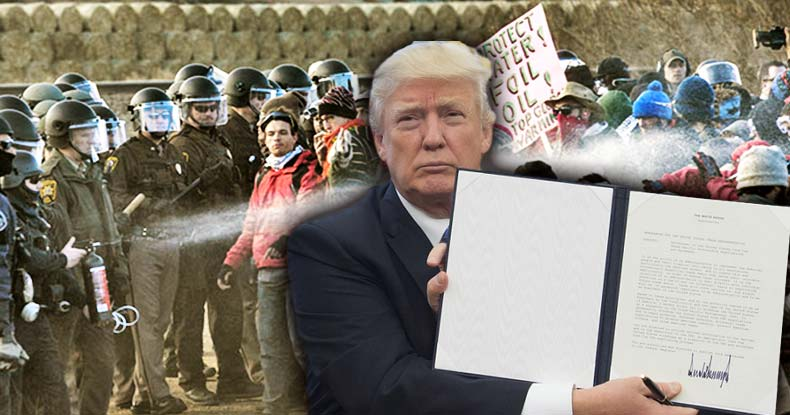 BREAKING: Trump Signs Executive Order Forcing Continuation of DAPL & Keystone XL