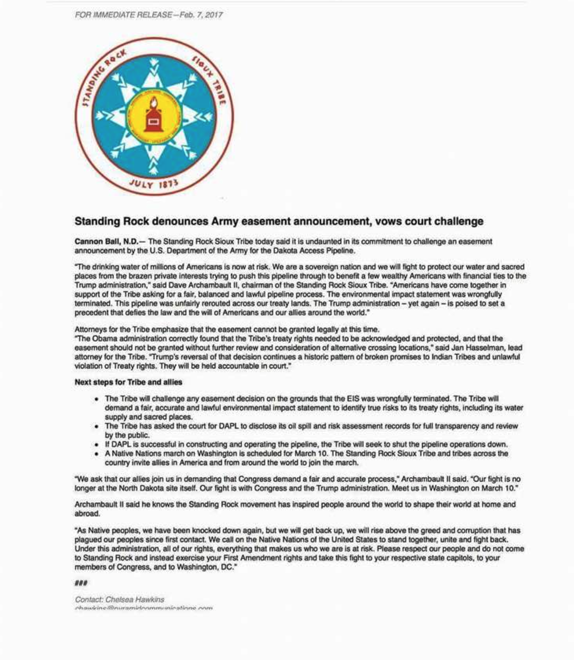 NoDAPL Last Stand: Final Construction Could Begin Today As Army Corp ...