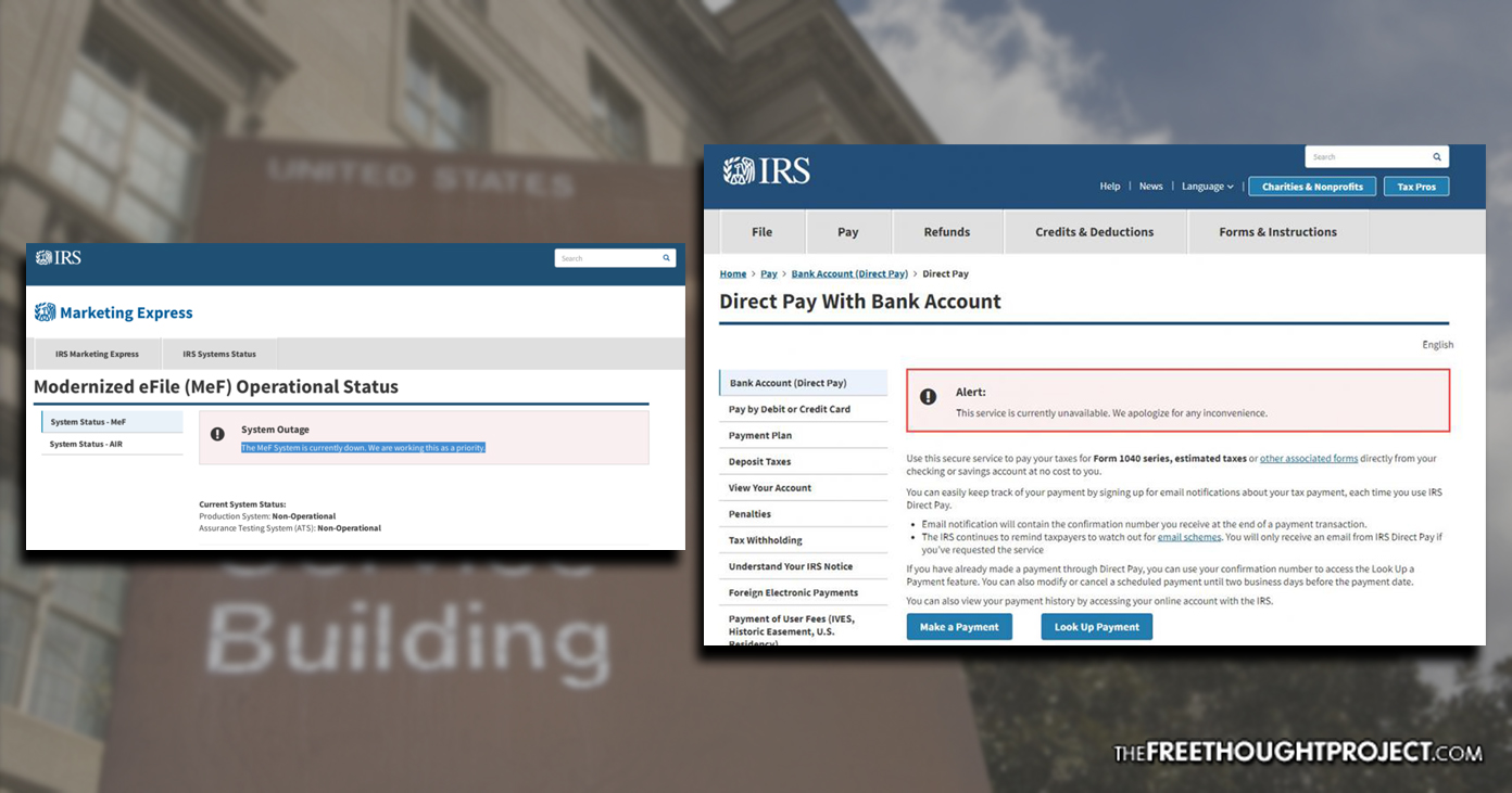 IRS E-File and Payment Systems Crash Hours Before Tax Day Deadline