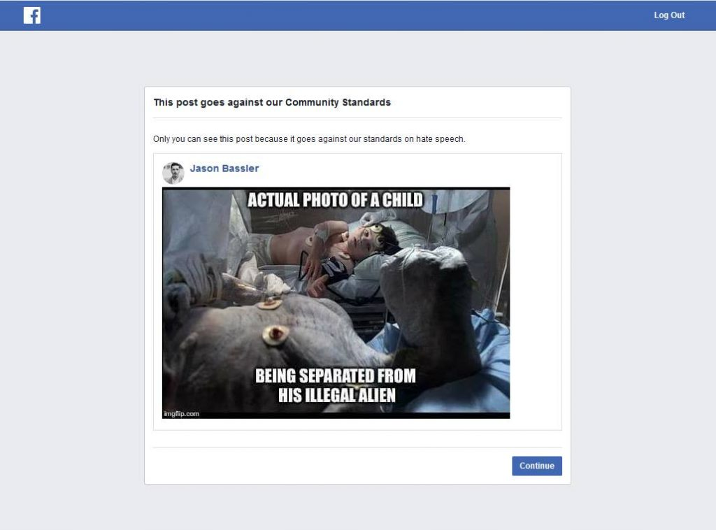 Facebook Bans User for Photo of E T , While Pages Posting