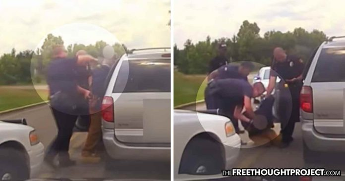 WATCH: Cop Beats, Tasers, Chokes, Handcuffed Compliant Man as Fellow Cops Do NOTHING