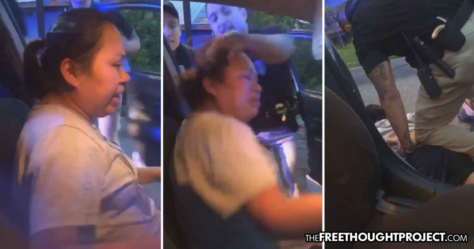 WATCH: Cop Grabs Mother By Her Hair, Rips Her from Car as