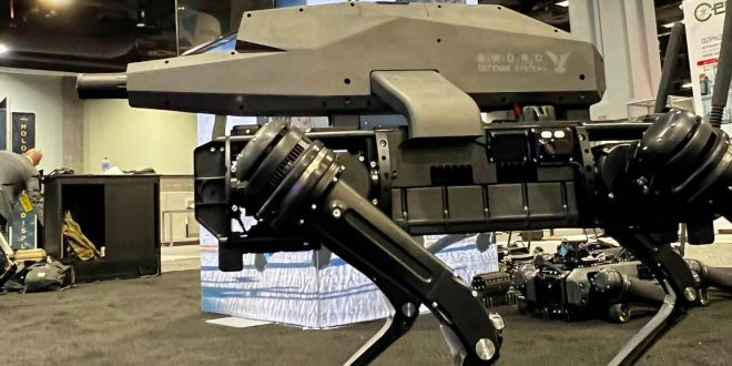Nothing Scary About That: US Army Showcasing Robot Dogs With Rifles for Heads